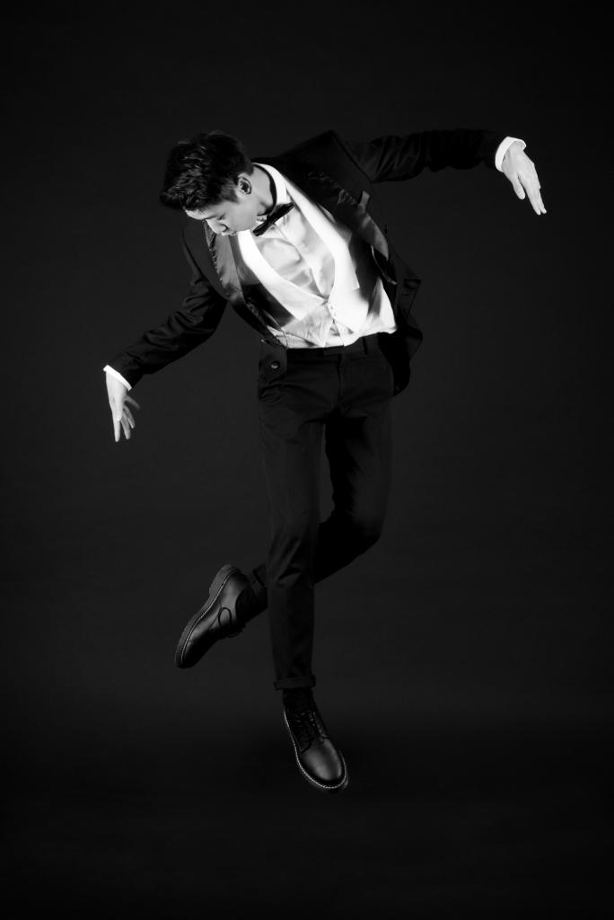Un danseur de breakdance vintage