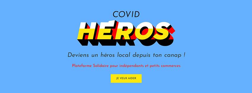 Bannière du site internet covid héros